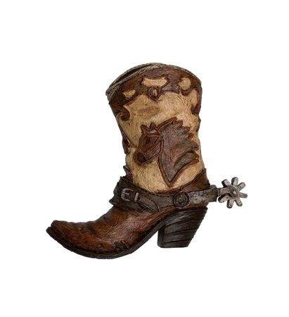 decorative cowboy boot isolated on white background