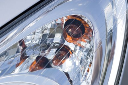 Headlight of modern vehicle, close-up shot. Stock Photo - 1179840