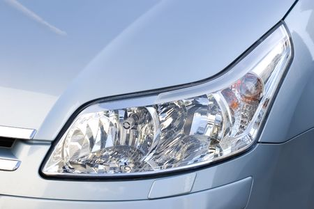Headlight of modern elegant vehicle, close-up shot. Stock Photo - 1179841