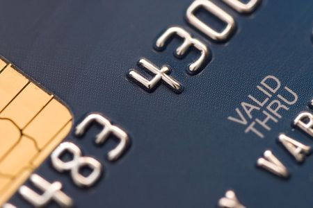Credit card extreme close-up photo Stock Photo - 2186317