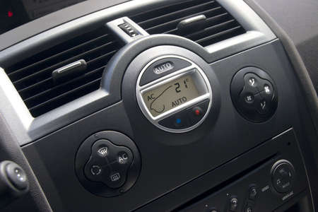 Car interior with climat-control view.