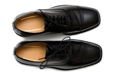 Mens classical shoes isolated (cut-out) on white background. Stock Photo