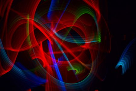 Abstract background with light paths on black. Stock Photo - 4662498