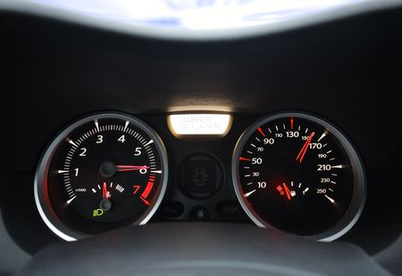 Car dashboard in a moving vehicle Stock Photo - 5931601