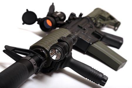 airsoft gun: Modern weapon.