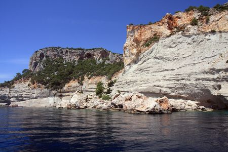 Mediterranean rock coast in summer day. Kemer, Turkey. Stock Photo - 6435022