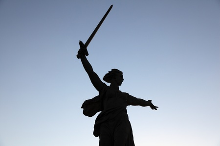 commemorating: Legendary Statue of Mother Russia, monument commemorating the Battle of Stalingrad  Volgograd, Russia