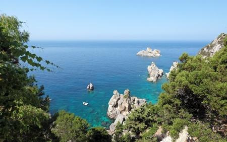 Sea bay  Paleokastritsa, Corfu island, Greece  Stock Photo - 15111067