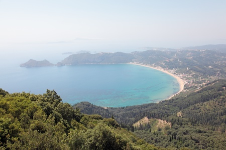 View on Agios Georgios and Agios Georgios bay  Corfu Island, Greece  Stock Photo - 15111068