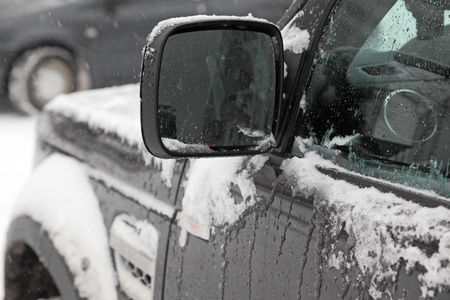 Winter. Car in snow close-up. Stock Photo - 17093782