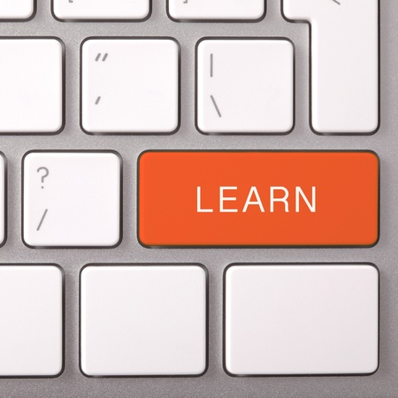edu: Laptop keyboard and red key