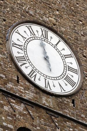 Pallazo Vecchio clock. Piazza Della Signoria, Florence (Firenze), Tuscany, Italy. Stock Photo - 17093803