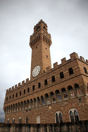 Palazzo Vacchio, view from the Uffizi Gallery. Florence, Italy. Stock Photo - 17091495