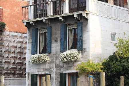 Bella Italia series  Venice - the Pearl of Italy  Windows of a Venice homes  Venice, Italy  Stock Photo - 17181829