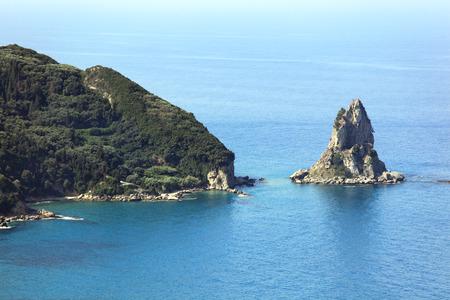 kerkyra: Corfu (Kerkyra) Island coastline. Greece.