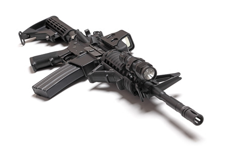 M4A1  AR-15  carbine isolated on a white background