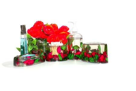 Bathroom set with red roses   Stock Photo - 2177928