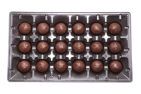 Milk chocolate candies in box Stock Photo - 2344830