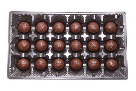 Milk chocolate candies in box Stock Photo - 2344830
