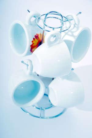 Porcelain coffee set photo