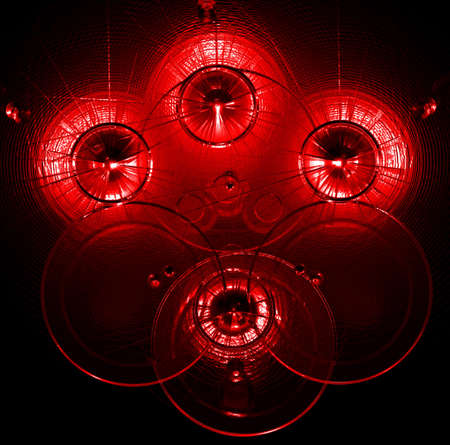 abstract red neon lights background   photo