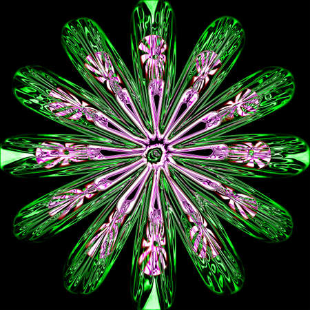 digitally generated: neon glass flower