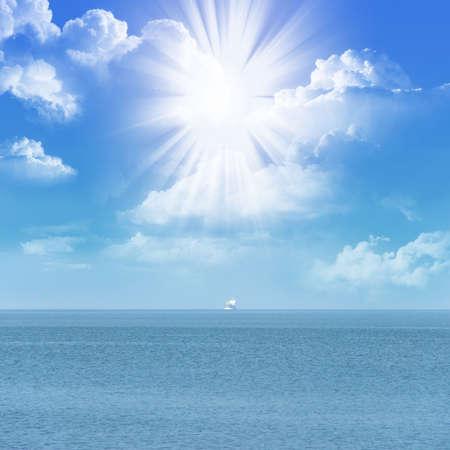 sunlight in cloudy sky under ocean photo