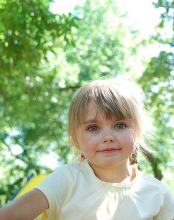 pretty smiling child Stock Photo - 4192229