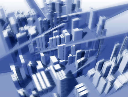 urbanistic: Urbanistic landscape from height of the birds flight Stock Photo
