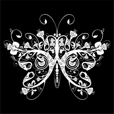 Floral butterfly Stock Vector - 568244