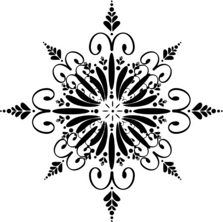 iceflower: Ornamento floreale Snowflake
