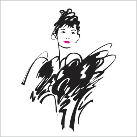 abito elegante: Belle signora in un elegante abito