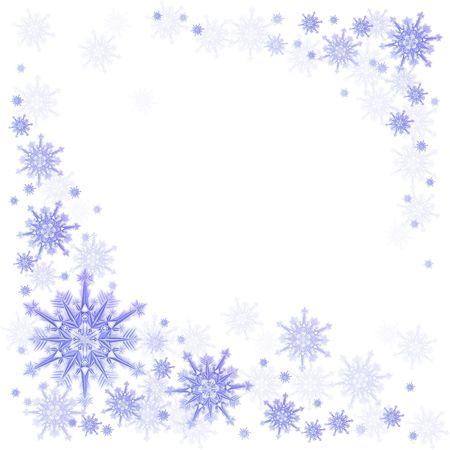iceflower: Palle di neve su sfondo blu