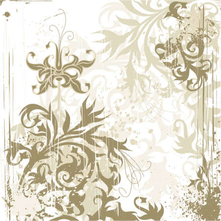 vintage flowers ornament on grunge background Stock Vector - 937418