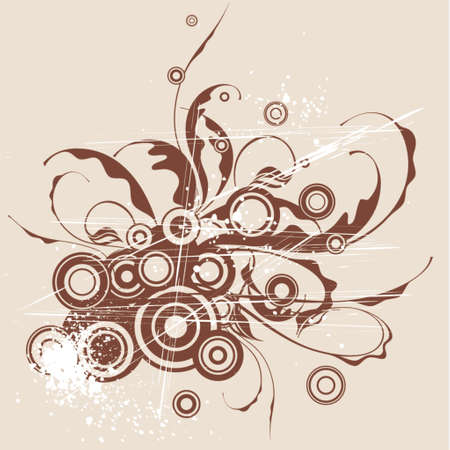 calligraphy flowers ornament Stock Vector - 937430
