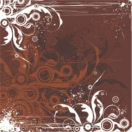 chocolate floral background Stock Vector - 951551