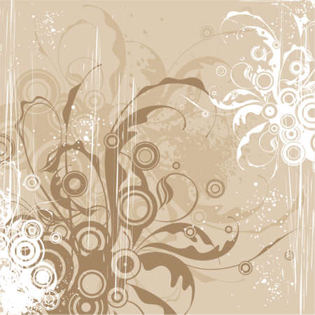 beige floral background Stock Vector - 937433
