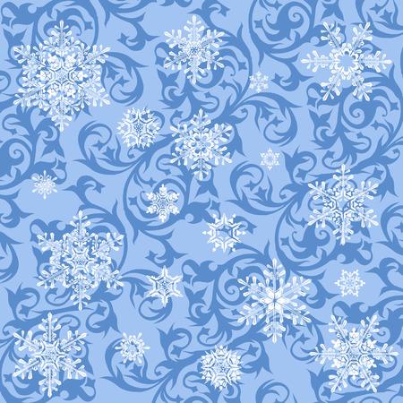 winter wallpaper: fondos de escritorio de invierno y los copos de nieve  Vectores