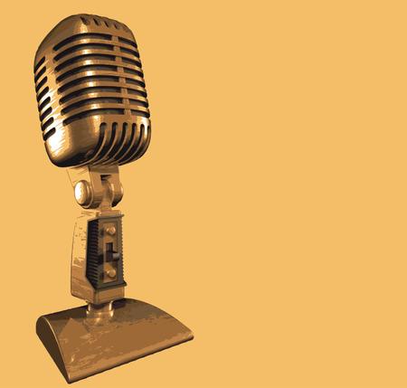 old vintage microphone