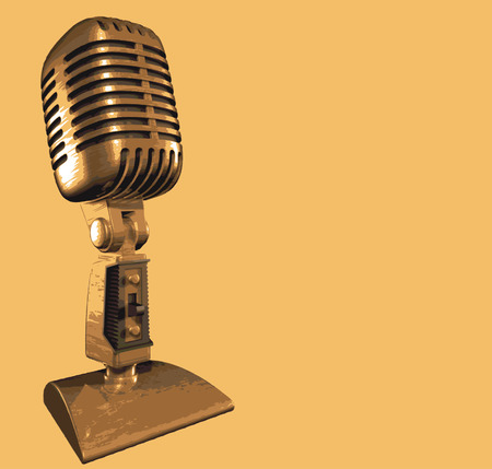 mike: old vintage microphone