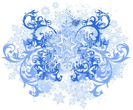flowers & snowflakes Illustration