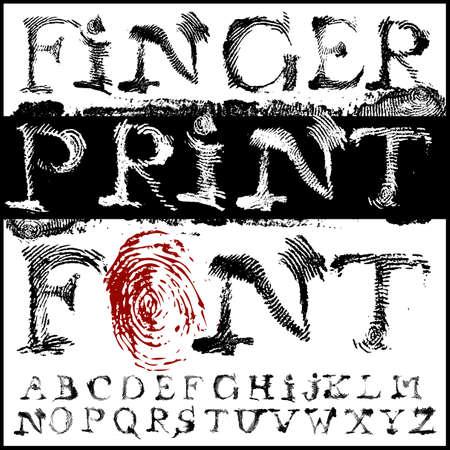 fingerprint font Illustration