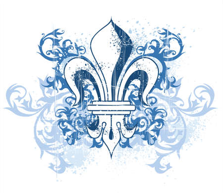 vintage heraldry lily