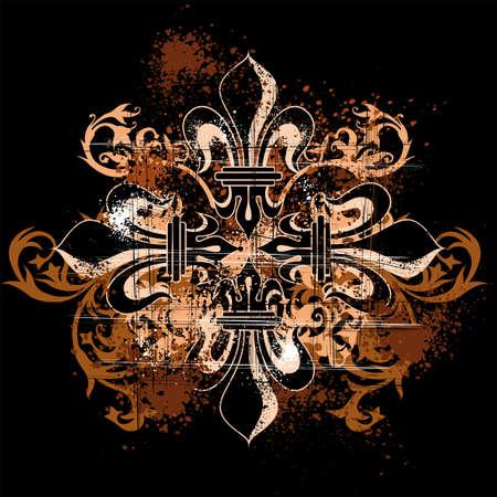 grunge heraldry cross