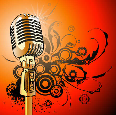 vintage microphone - vector Stock Vector - 2171621