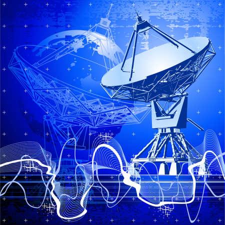 satellite dishes antenna (doppler radar) Stock Vector - 2171651