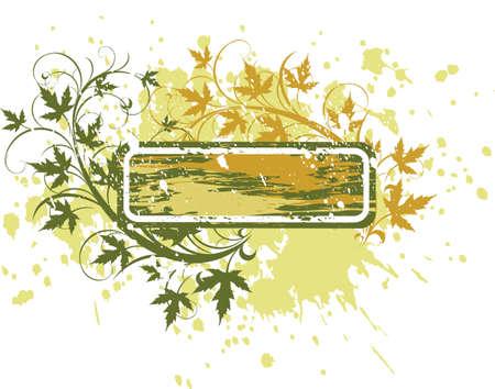 banner ( grunge & leaves ) Stock Vector - 2171638