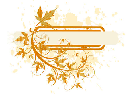 banner ( grunge & leaves ) Stock Vector - 2171634