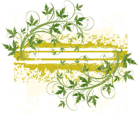 banner ( grunge & leaves ) Stock Vector - 2171655
