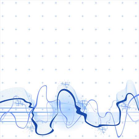 electromagnetic: sound wave background Illustration